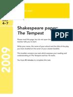 Ks3 English 2009 Shakespeare the Tempest