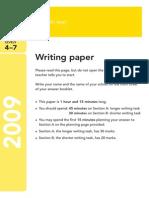 Ks3 English 2009 Writing Paper