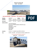 1978 Cessna Citation 500 SPEC