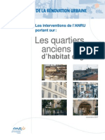 Les interventions de l'ANRU portant sur