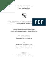 Modelo de Programacion de La Operacion de Un Sistema Hidrotermico