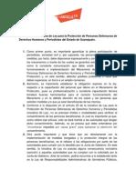 Análisis de Article 19 a la iniciativa de Ley para la Protección de Personas Defensoras de Derechos Humanos y Periodistas en Guanajuato