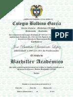 Diploma Bachiller Cafam