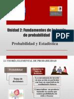 Unidad 2, Fundamentos de La Teoría de Probabilidad (1)