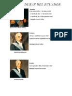 Períodos Presidenciales