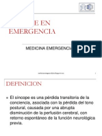 SINCOPE EN EMERGENCIA