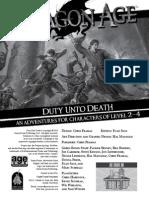 Duty Unto Death - Black & White