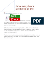 FactCheck How Many Black Americans Are Killed by the Police