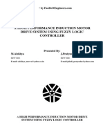 A High Performance Induction Motor Drive System Using Fuzzy Logic Controller