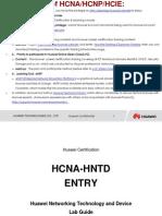 HCNA-HNTD V2.0 Entry Lab Manual (March 17,2014)