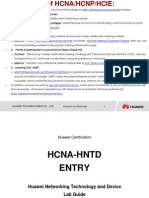 HCNA-HNTD V2.0 Entry Lab Manual (March 17,2014)