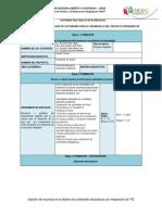 Matriz de actividades del proyecto Ecoleones en acción