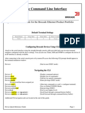 Brocade to Cisco Reference Command Guide | Command Line
