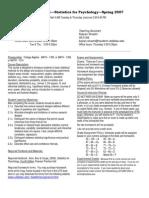 UT Dallas Syllabus for psy2317.501.07s taught by Nancy Juhn (njuhn)