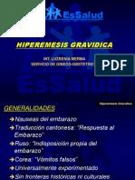 Hiperemesis Gravídica Gineco Exposiciòn