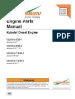 Manual de partes Kubota V2203 Series
