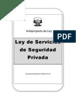 Anteproyecto de Ley de Servicios de Seguridad Privada