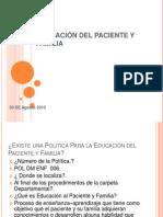 Educación Del Paciente y Familia