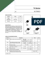 TRIAC SÉRIES T4 ---T410600W  ----ST-----datasheet