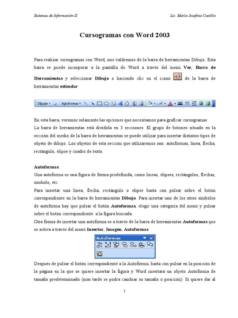 cursograma en wordpdf