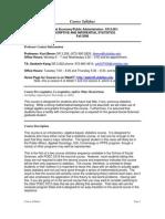 UT Dallas Syllabus for poec5313.001 06f taught by Kurt Beron (kberon)