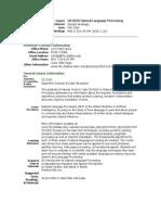 UT Dallas Syllabus for cs6320.501 06f taught by Sanda Harabagiu (sanda)