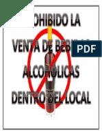 Prohibido La Venta de Bebidas Alcohólicas Dentro Del Local
