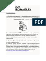 Educacion Contemporanea en Mexico