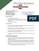 UT Dallas Syllabus for rhet1101.035 06f taught by Leah Nall (lnall)