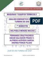 Analisis Energetico de Una Turbina de Gas
