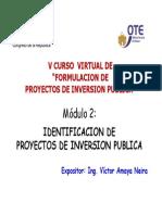 Identificacion de Proyectos -Victor Amaya