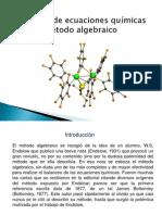 Balanceo de ecuaciones quimicas metodo algebraico