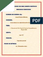 SEGUNDO PARCIAL THE TRAVEL & TOURISM COMPETITIVENESS  REPORT 2013 LIZZET ZÁRATE MÉNDEZ 901-c