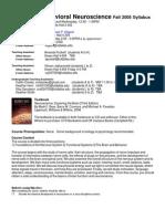 UT Dallas Syllabus for nsc3361.001 06f taught by Michael Kilgard (kilgard)