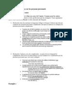 Act4 Exercice Sur Les Pronoms Personnels 1HBH 2012 2013-2