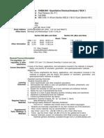 UT Dallas Syllabus for chem2401.001 06f taught by Paul Pantano (pantano)