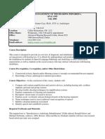 UT Dallas Syllabus for spau4395.501 06f taught by Andrea Warner-czyz (adw052000)