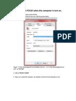 How to Create Autostart Pcvue