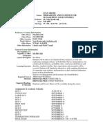 UT Dallas Syllabus for stat3360.502 06f taught by Yuly Koshevnik (yxk055000)