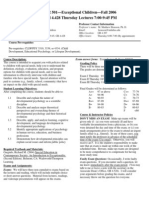 UT Dallas Syllabus for psy3342.501 06f taught by Malcolm Housson (housson)
