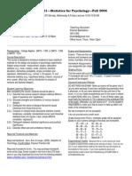 UT Dallas Syllabus for psy2317.002 06f taught by Nancy Juhn (njuhn)