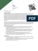 UT Dallas Syllabus for comd7378.501 06f taught by Lori Betourne (betourne)