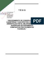 PROCEDIMIENTOS DE CONSERVACION DE CARRETERAS