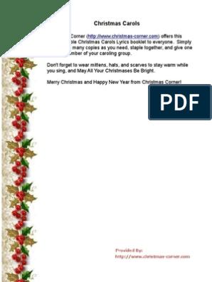 picture about Lyrics to Away in a Manger Printable called xmas-carol-lyrics-printable.pdf Xmas Traditions