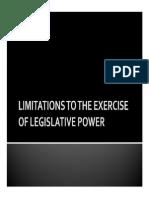 Limitations Legislative Process
