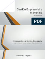 Gestión Empresarial y Marketing