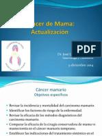 Actualización de cáncer de mama(diciembre de 2014)