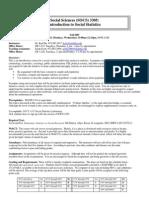 UT Dallas Syllabus for socs3305.002 05f taught by Ka-yiu Ho (kxh022100)