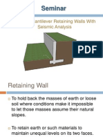 Seminar on Retaining Wall
