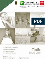 Tarifa Orbis 2014